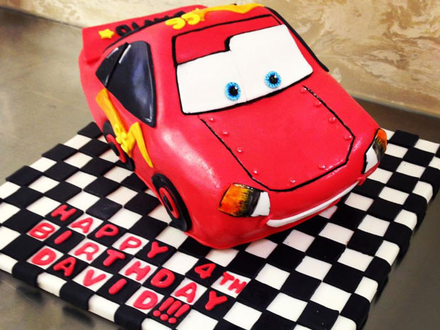 Lightning McQueen Birthday Cake!